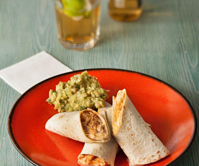 Burritos de Pollo con Chipotle de Salsa de Mexico
