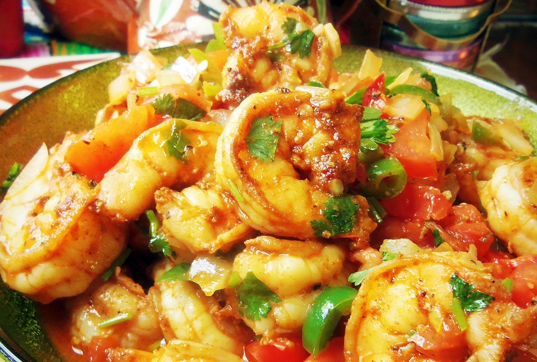 Camarones ala Mexicana Receta de Cocina