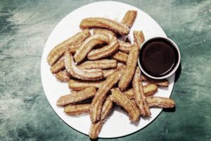 Churros con salsa de chocolate agridulce【❷0❶❾】☜