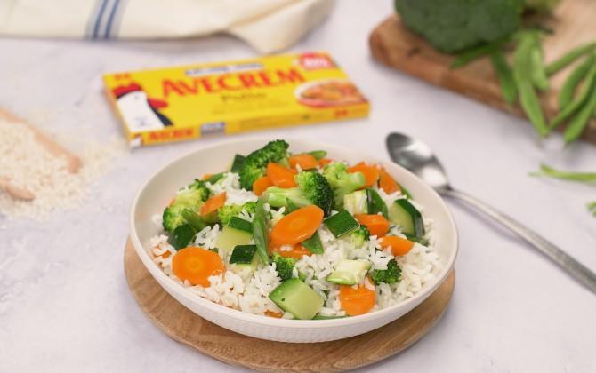 Como hacer arroz hervido con verduras