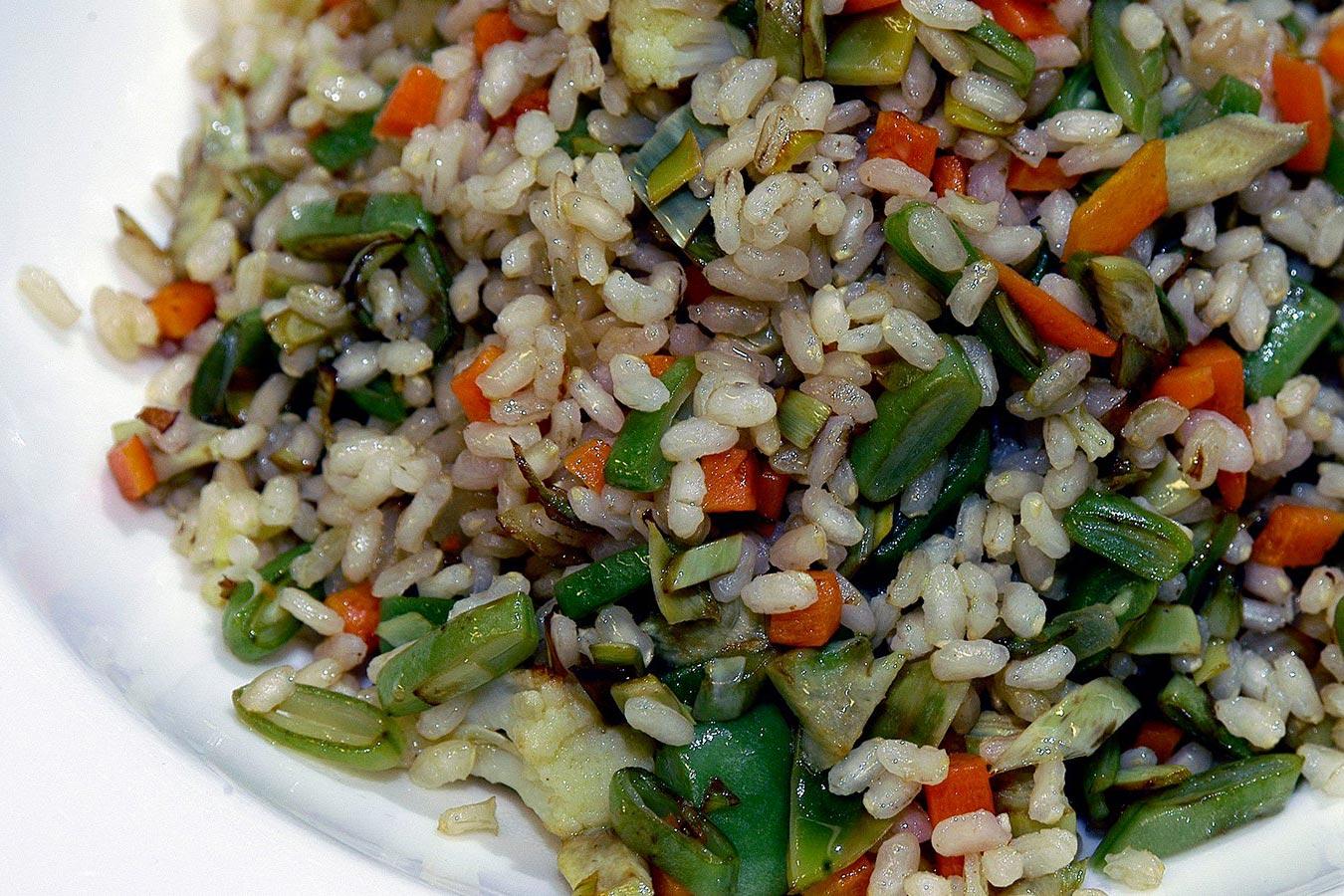 Como hacer arroz integral con verduras