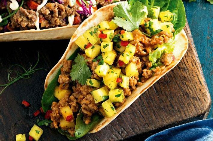 Tacos de Cerdo y Piña Receta