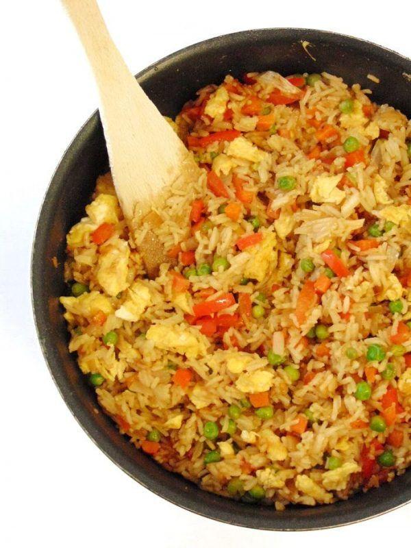 Como hacer arroz frito con huevo