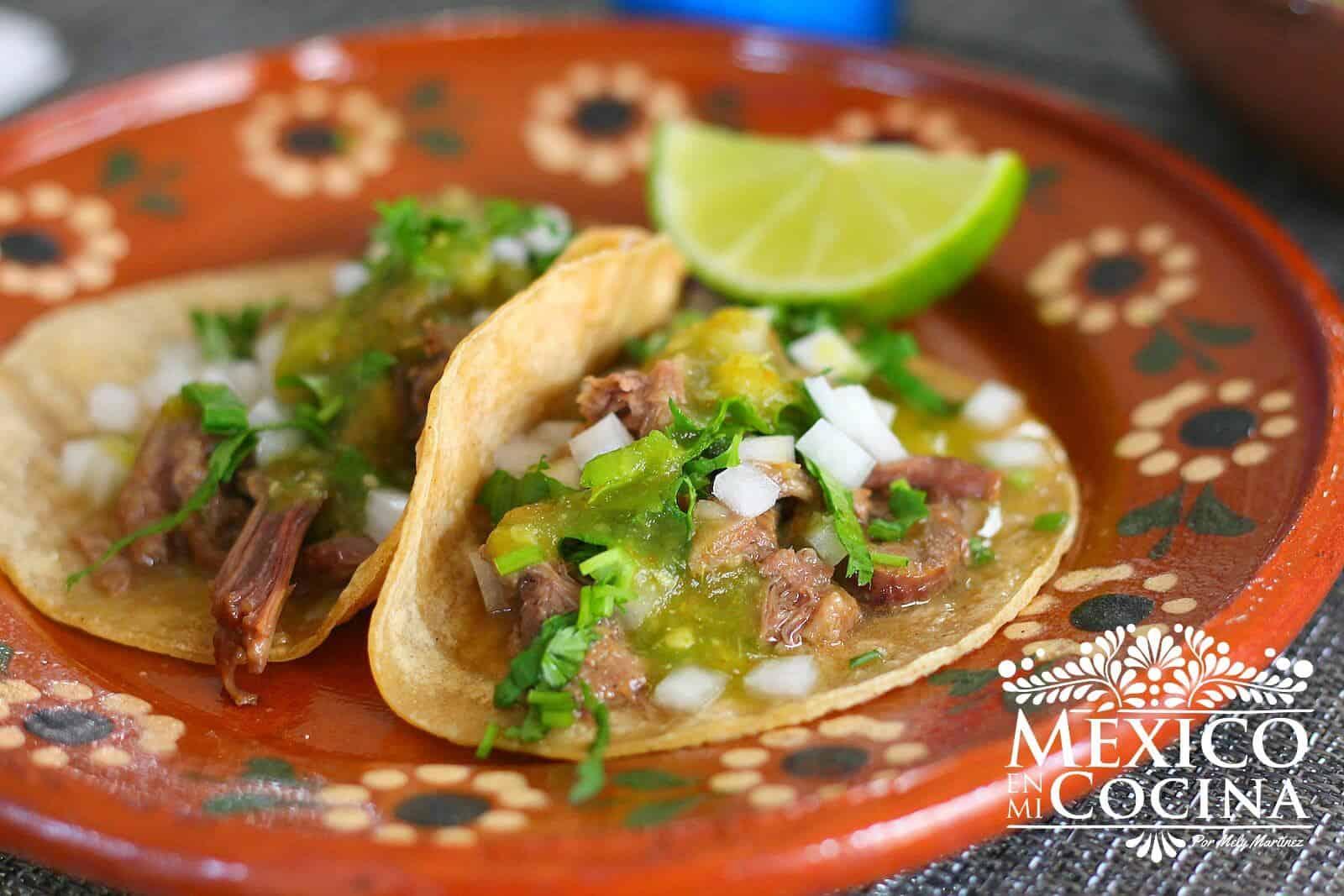 Recetas Mexicanas Tacos de Lengua